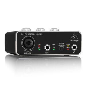 Behringer Um2 U-strabisme Audiophile Usb 2x2 Interface Audio Studio Dj-afficher Le Titre D'origine Ymu9nm9o-07160746-907484040