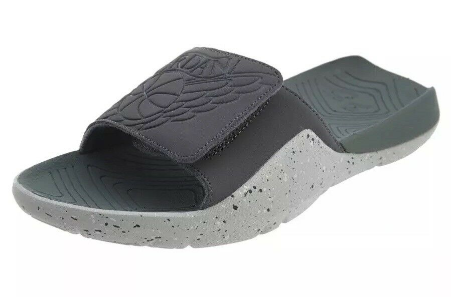 Jordan Mens Hydro 7 Slide Sandals Dark Grey Clay Green AA2517 035 Size 8