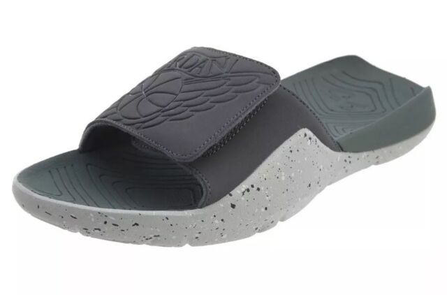 a0251c440b3 Jordan Mens Hydro 7 Slide Sandals Dark Grey Clay Green AA2517 035 Size 11