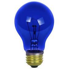 Sunlite Incandescent 25 Watt A19 Blue Transparent 1250 Lumens Light Bulb 2 PK
