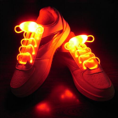 LED Light Up Glow Shoelaces Xmas Decor Flash Shoestring Halloween Party Disco