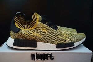 the latest d1175 8132a Details about Adidas NMD R1 PK Premeknit Yellow Gold Camo S42131 New