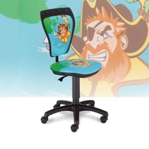 Moderner Kinderstuhl Sitzbreite 40,5 cm Piraten Motiv Büro Chefsessel Drehsessel