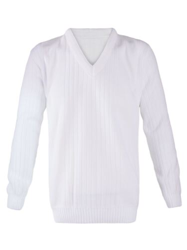 MENS LAWN BOWLING V-NECK KNITTED WHITE RIBBED JUMPER CARDIGAN VEST SWEATER S-5XL