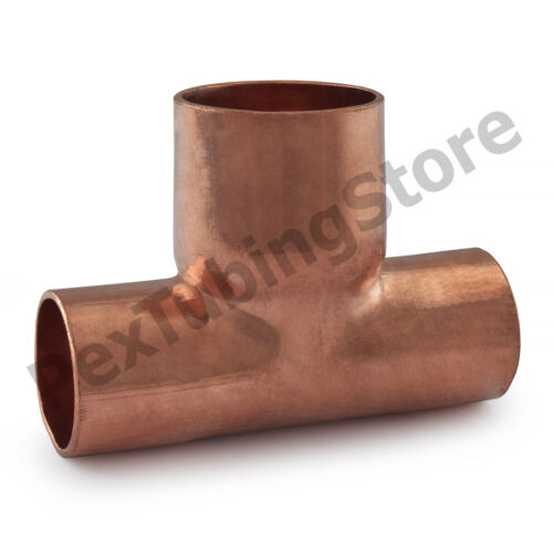 """3//4/"""" x 3//4/"""" x 1/"""" Copper Tees 10"""