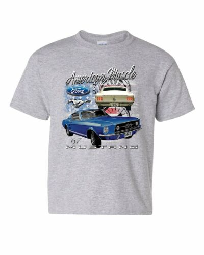 Ford Mustang Shelby 1967 GT Youth T-Shirt American Made Muscle Cars Kids Tee
