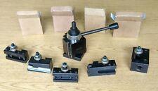 Unused Bxa 6 Pc Wedge Type Quick Change Tool Post Set For Lathe Swing 10 15