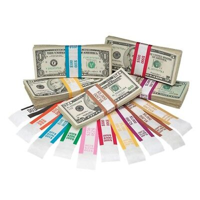 600 Self Sealing Currency Straps Money Bill Bands Strap Free Shipping Ebay