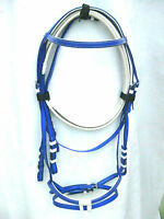 Synthetic bridle biothane 4 colours full & cob size with matching reins