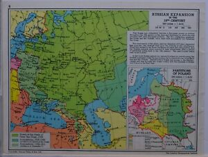 1961-SOVIET-MAP-RUSSIAN-EXPANSION-18th-CENTURY-LITHUANIA-PARTITIONS-OF-POLAND
