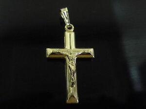 new-9kt-9ct-yellow-gold-round-crucifix-cross-holy-jesus