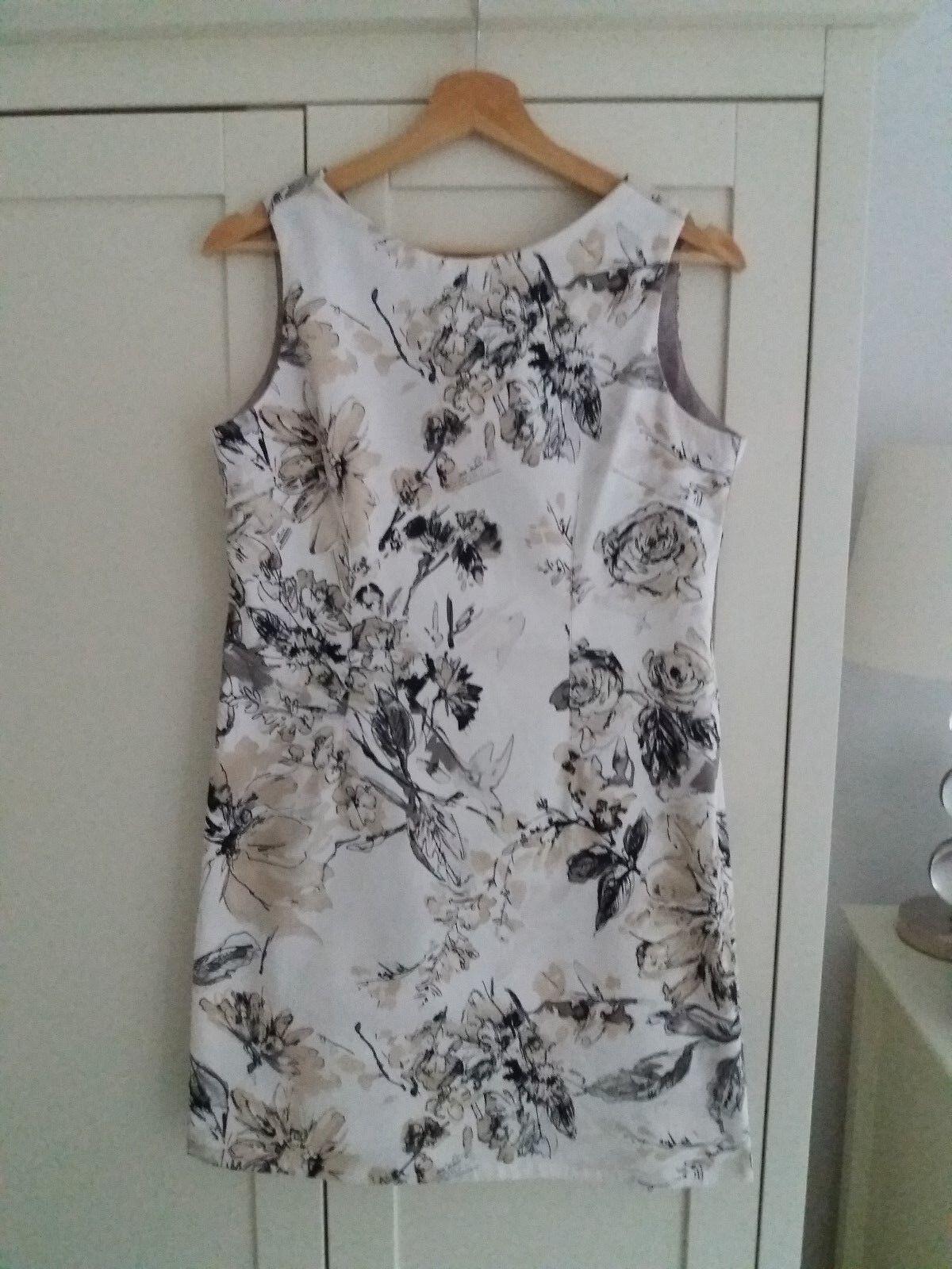 Women's Paul Brial Stretch Cotton Mini Shift Dress - Wedding, Formal - Medium