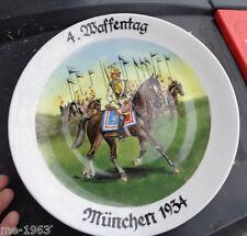original Teller  4. Waffentag  München 1936 Garde Kürassiere handgemalt