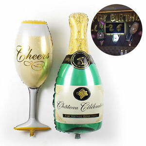 Champagne-Bottle-Glass-Foil-Balloons-Happy-Birthday-Wedding-Party-Decor-Bridal-F