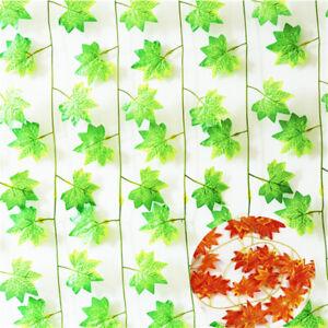 Artificial-Ivy-Red-2-4M-Flower-Vine-Fake-Garland-Home-Decor-Plant-Leaf-Foliage
