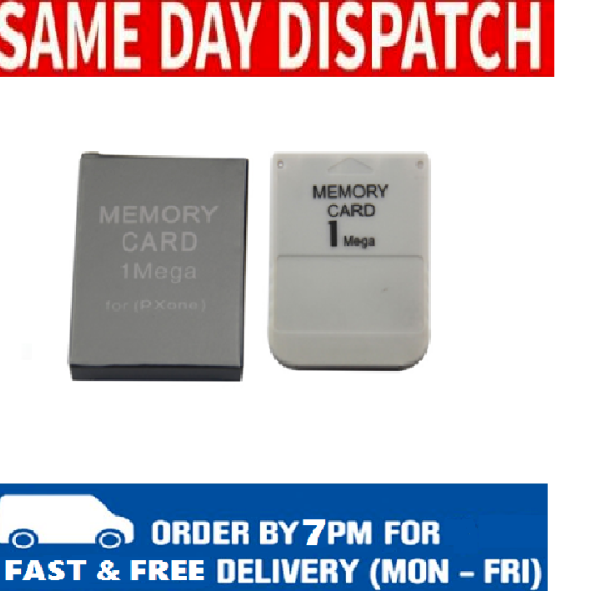 1MB Memory Card For Sony PS1 Playstation 1 PSX ONE - New