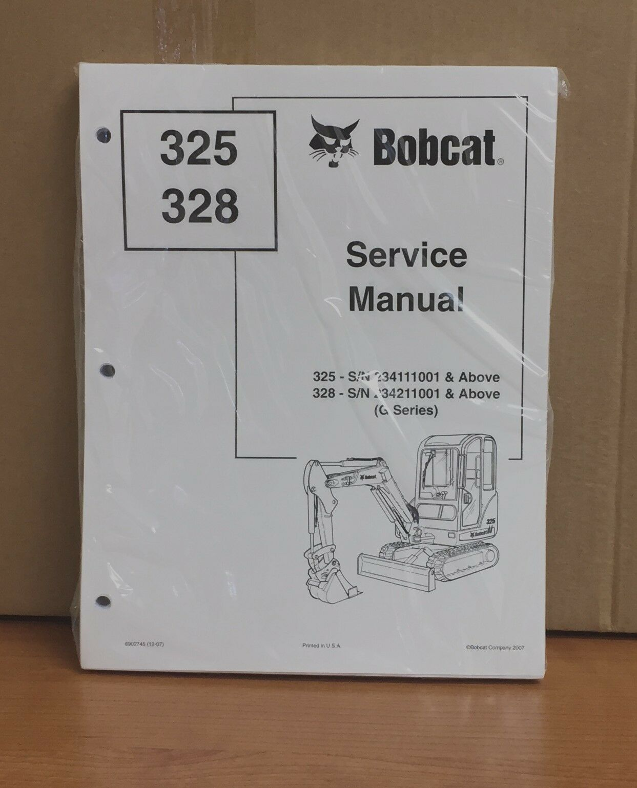 Bobcat 325 328 G Compact Excavator Service Manual Shop Repair Book 6902745