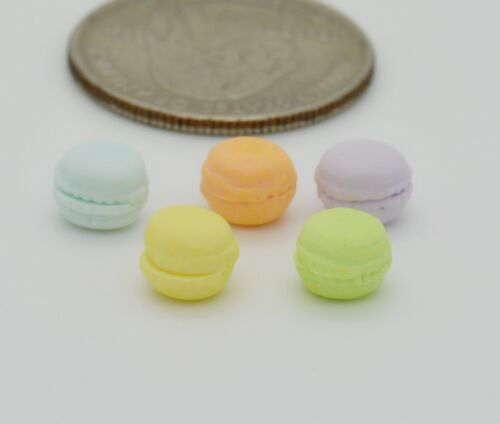 6 Macaroons Bakery Cake Food Set of 5 DOLLHOUSE MINIATURE COLLETIBLE TOY 1
