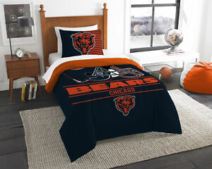 9288c6bf Details about Chicago Bears 5 Pc Twin SIZE Comforter Set w/ Team Anthem  Colored Sheets
