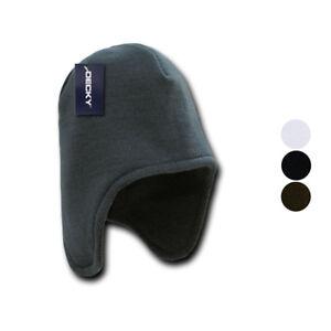 Details about Decky Helmet Beanies warm winter fleece-lined inside ear flap  ski snow 760783adeee