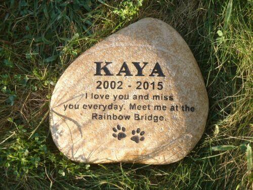 "Pet memorial stone 13/"" custom engraved free shipping real rock"