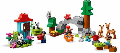 LEGO DUPLO Town World Animals 121 Pcs Building Toy Lions Whales Pandas Giraffes