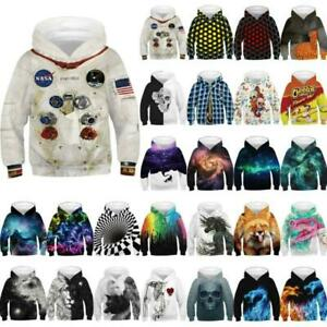 Kid Girl Boy 3D Print Hoodie Hooded Sweatshirt Pullover Jumper Coat Outwear Tops