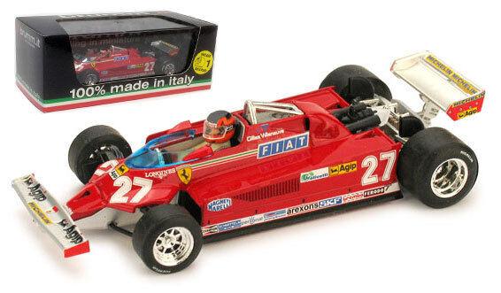 Brumm r390-ch Ferrari 126ck Turbo Italiano Gp 1981-Gilles Villeneuve 1 43 Escala