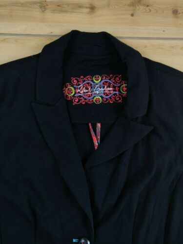 Robert Graham Womens Blazer Size 6 Raylon Blend Bl