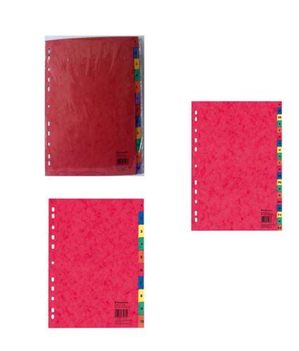 Register Zahlenregister 1-10 1-12  Buchstabenregister A-Z farbig