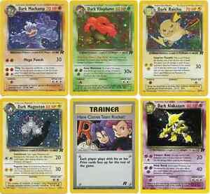 Holo-shiny-Dark-Pokemon-Cards-Includes-Charizard-and-blastoise-team-Rocket