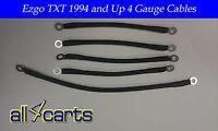 Ezgo Golf Cart Battery Cable Set   94-up Ezgo Txt/medalist 4 Gauge Upgrade