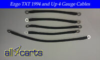 Ezgo Golf Cart Battery Cable Set | 94-up Ezgo Txt/medalist 4 Gauge Upgrade