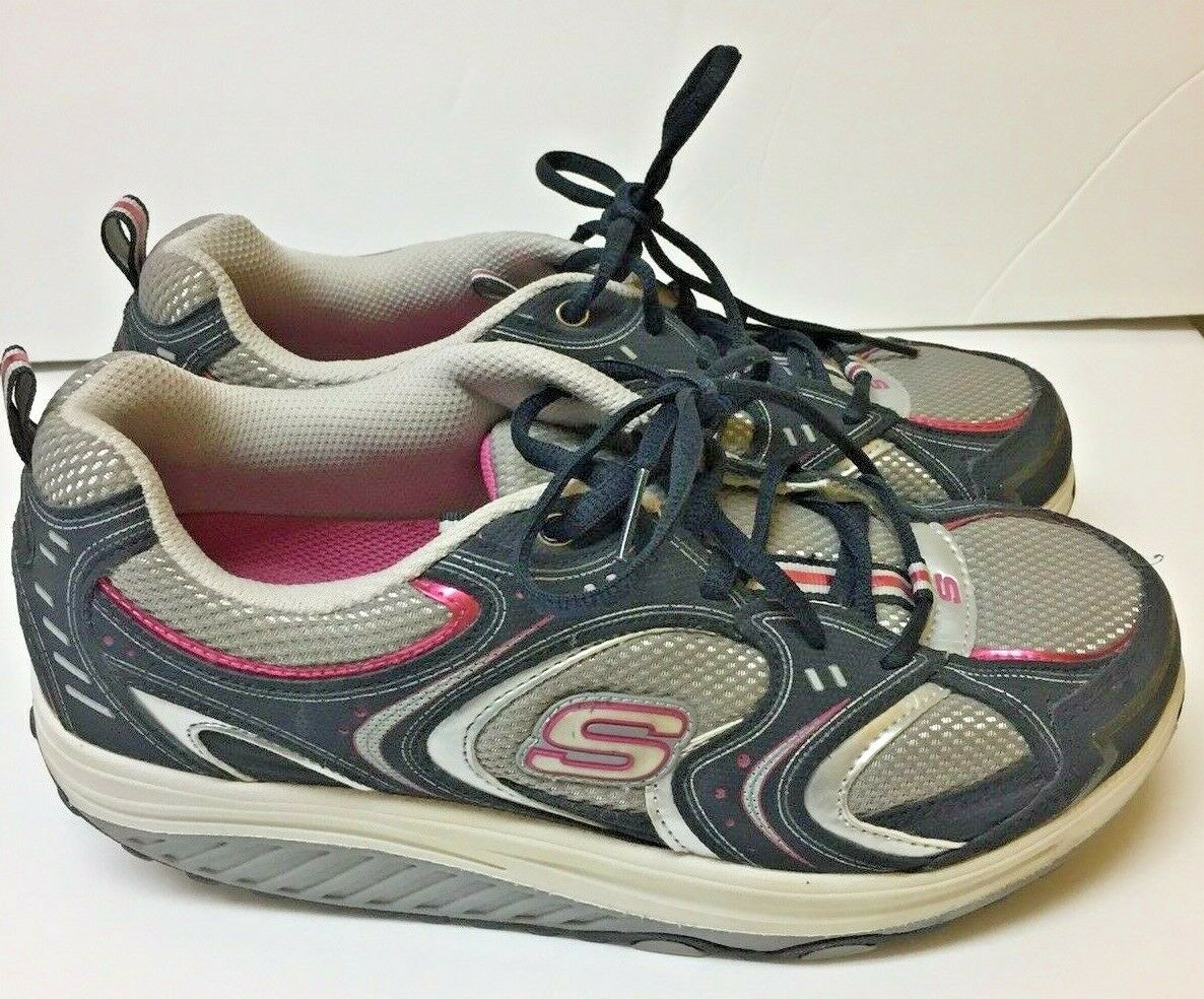 Skechers Shape Ups Walking Action Packed Women Athletic Toning shoes shoes shoes Size 10 c0ab66