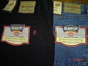Casual Strong Size Big Large Mens Waist Inch Full Fit New Work Boston 62 Jeans qwXngtT1