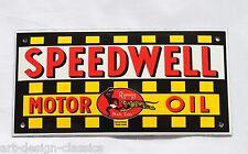 Speedwell Motor Oil - 10x20cm - Emailschild - - Türschild - TOP - Emaille Schild