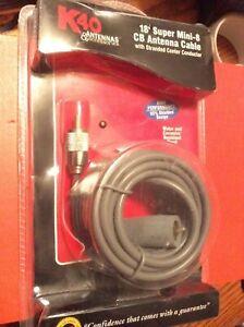 K40 18 Foot Rg8x Super Mini 8 Cb Ham Radio Antenna Coax Cable Pl 259 W Boot 18ft Ebay