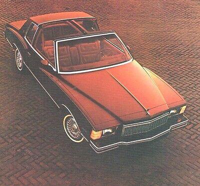 1979 Chevrolet Monte Carlo Brochure/catalogo W/colore Chart Buono Per L'Energia E La Milza