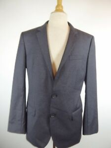 7cf69bb0 HUGO BOSS BLACK LABEL DARK GRAY 100% WOOL 2pc SUIT JACKET + PANTS 40 ...