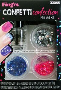 Fingrsnail Art Kit Heart 2 Art Shape Glitterpolish Confetti