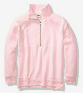 VICTORIA-039-S-SECRET-PINK-Quarter-zip-vintage-sweater-oversize-Pink-super-soft