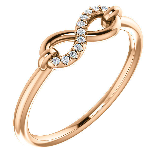 Diamond Infinity-Inspired Ring In 14K pink gold (1 10 ct. tw.)