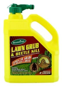 Insecticide Lawn Grub Beetle Kill Brunnings 2 Ltr Hose On Ebay