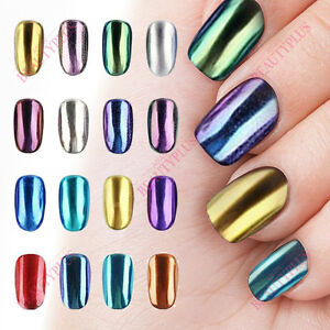Image Is Loading Mirror Powder Chrome Effect Nail Art Pigment Holo
