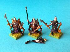 Warhammer - Dark Elf - Black Arc Corsairs Command Group x3 - Metal WF336