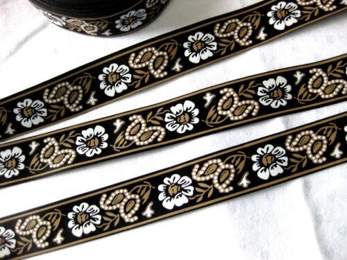 3m Satinband //0,66€ pro Meter//Blumen-Design,25mm breit,verschiedene Farben,Stb3