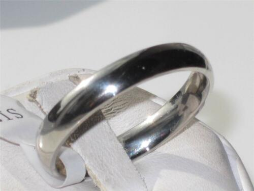 v stainless steel silver no tarnish 4mm wedding band ring ladies mens size t