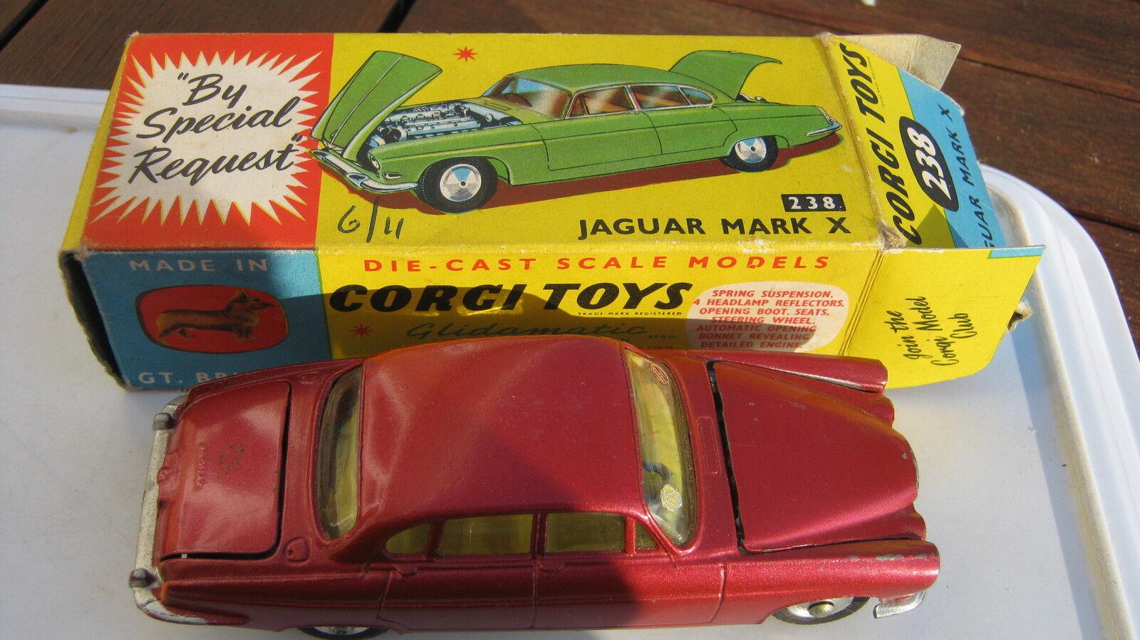 CORGI 238 jaguar mk 10 10 10 original très légèreHommes t playworn en très bonne boîte d'origine | Outlet Online Store  632a78