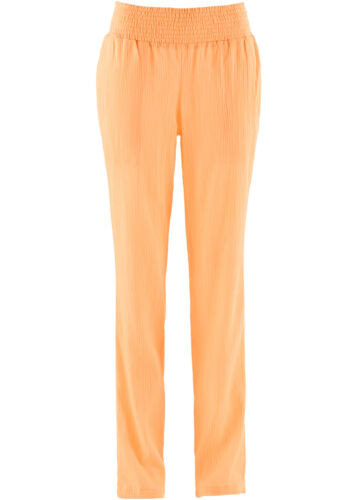 Crinkel-pantalon taille 50 Abricot pour Femme AEREES Décontracté M taille élastique NEUF
