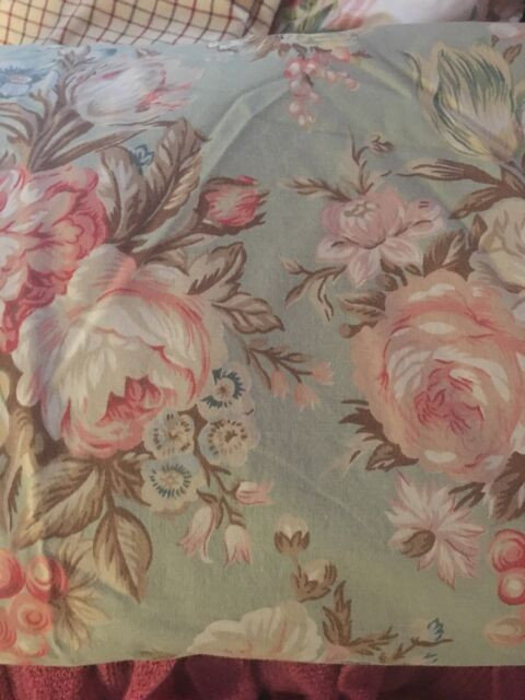 Royal Cannon Shangri La Full Size Flat Sheet Floral Print in Yellow Gold